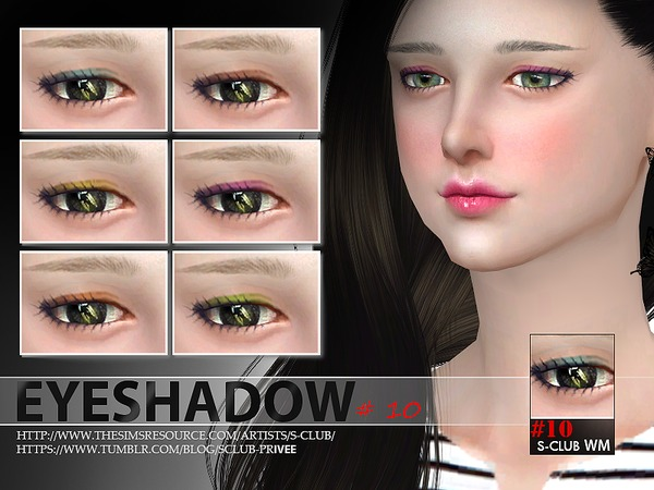 The Sims Resource: Eyeshadow 10 by S Club