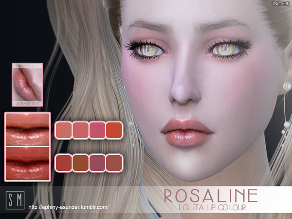 The Sims Resource: Rosaline    Lolita Lip Colour by Screaming Mustard