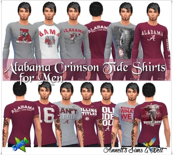 Annett`s Sims 4 Welt: Alabama Crimson Tide Shirts for Men