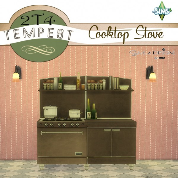Sims 4 Designs: Tempesto Cooktop Stove converted from TS2 to TS4