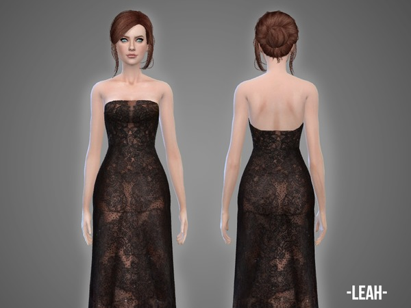 The Sims Resource: Leah   gown by April