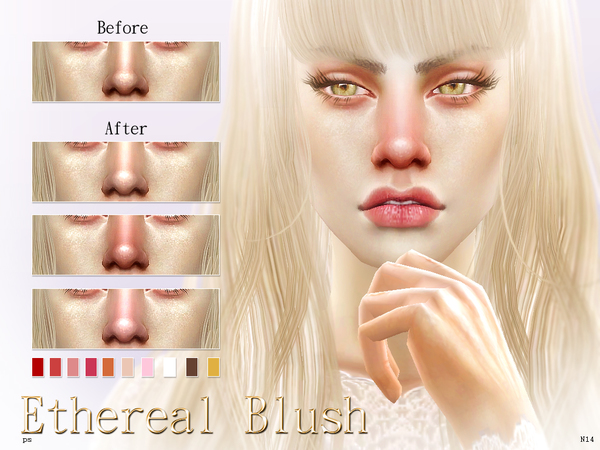The Sims Resource: Ethereal Blusher N14 by Pralinesims