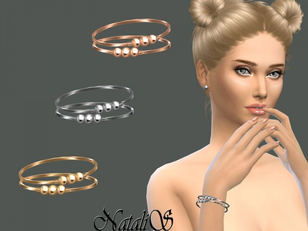 The Sims Resource: Triple beads bracelets by NataliS