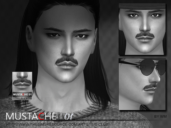 The Sims Resource: Mustache 01 by S Club