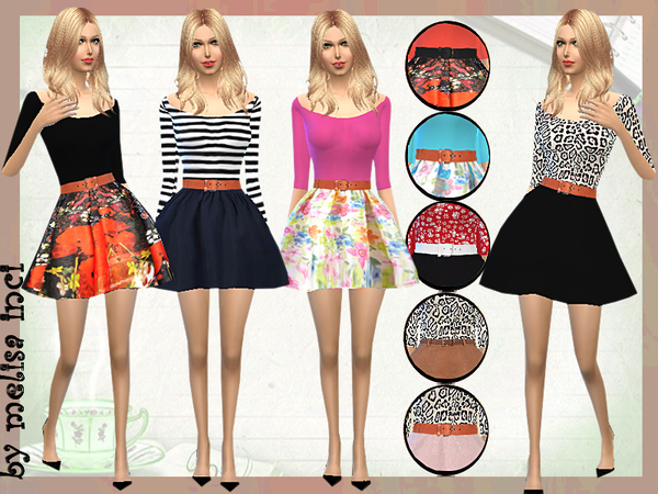 The Sims Resource: Cute Fall Dresses by melisa inci