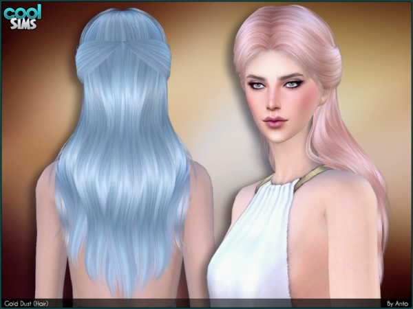 The Sims Resource: Anto   Gold Dust hairstyle