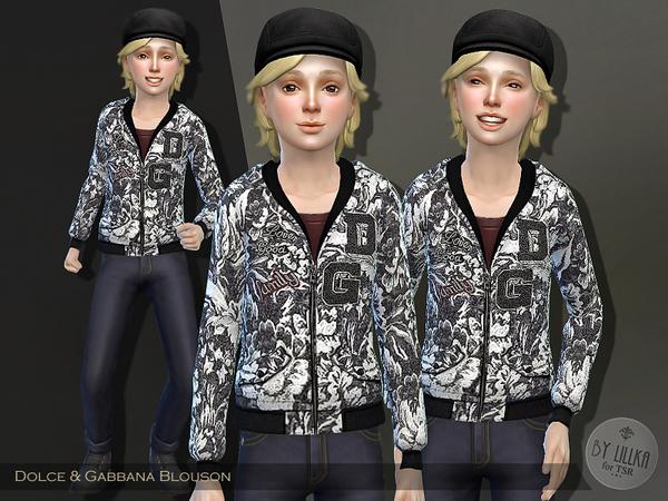 The Sims Resource: Dolce & Gabbana Blouson by lillka