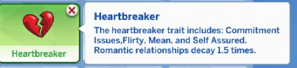 Mod The Sims: Heartbreaker Trait by Manic Pinkie Pie • Sims 4 Downloads