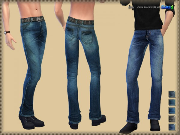 The Sims Resource: Jeans & Strap by Bukovka