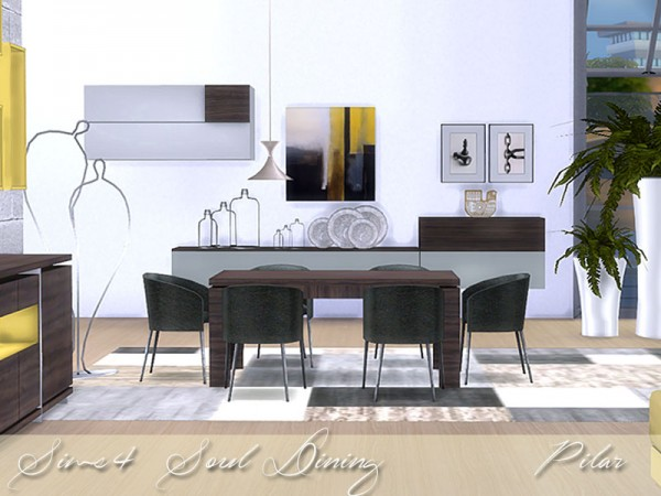 Simcontrol soul diningroom by pilar sims 4 downloads for Dining room ideas sims 4