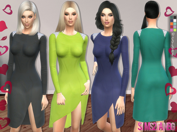 The Sims Resource: 135   Medium dress with details by sims2fanbg