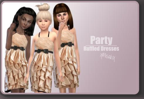 Xmisakix sims: Ruffled Dresses