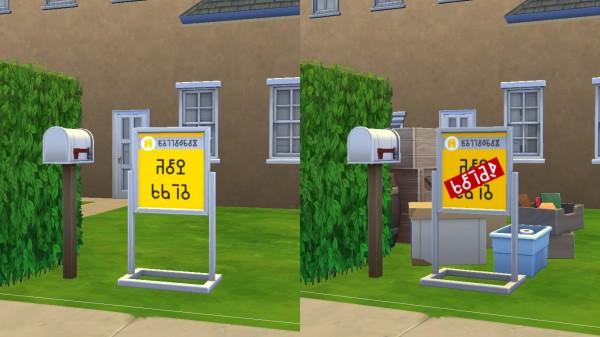 Mod The Sims: Yellowbox Real Estate Starter Pack; signs, signs, signs! by Deontai