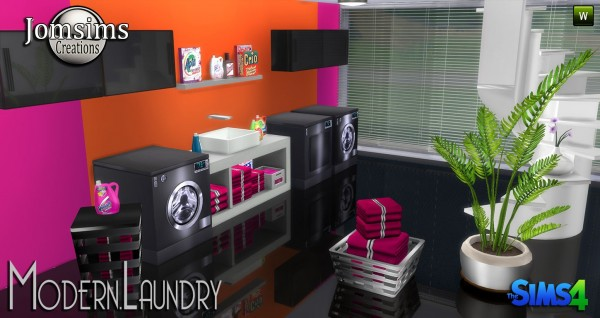 Jom Sims Creations Modern Laundry Sims 4 Downloads