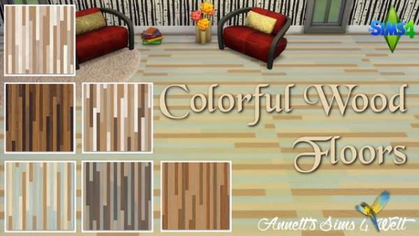 Annett`s Sims 4 Welt: Colorful Wood Floors
