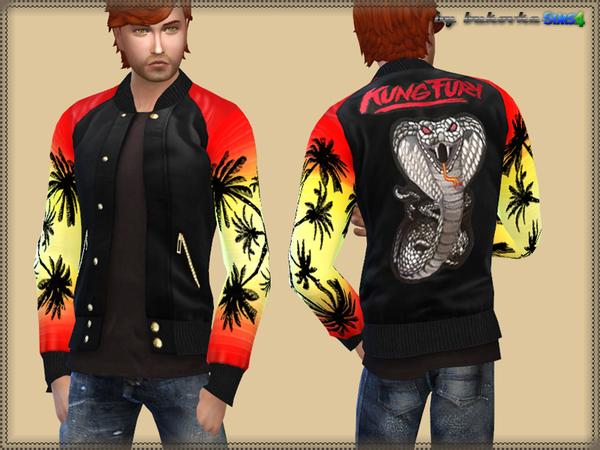 The Sims Resource: Jacket Kung Fury by bukovka