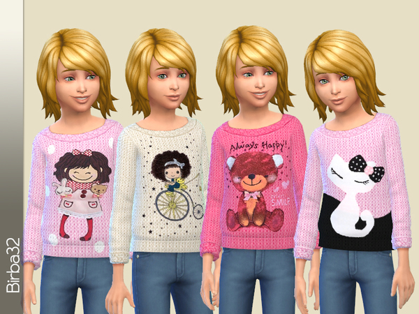 The Sims Resource: Soft pink sweater by Birba32