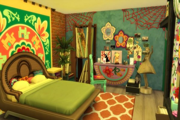 Blackys Sims 4 Zoo Hippie Loft By Chilli Sims 4 Downloads