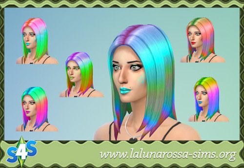 La Luna Rossa Sims: Dipped Straight Hair