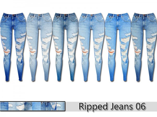 The Sims Resource Ripped Denim Jeans 06 By