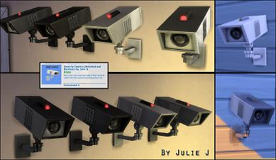 Mod The Sims: Security Camera Made Buyable and Recolours by Julie J