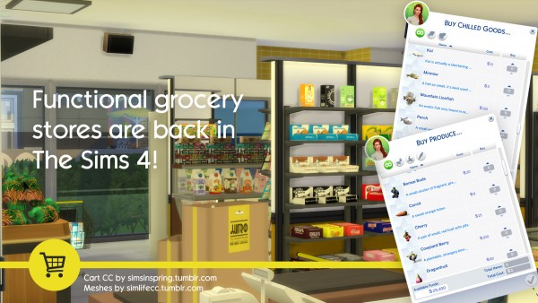 Simsworkshop: The Sims 4 Grocery Store Mod by SMagGeorge