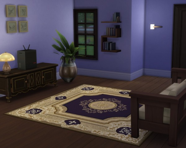Simsworkshop: Nouveaulicious rug converted from TS2 to TS4 by Hinayuna