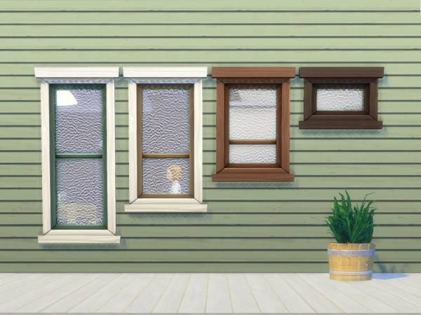 Mod The Sims: Rolled Glass Windows by plasticbox