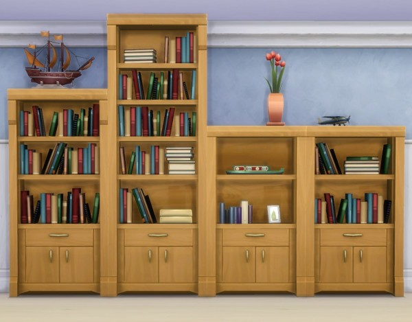 Mod The Sims: Muse Shelf Add Ons by plasticbox