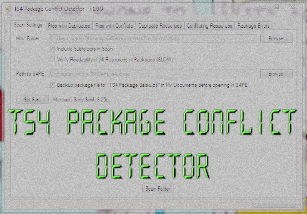 Mod The Sims: TS4 Package Conflict Detector by scumbumbo