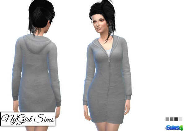 NY Girl Sims: Hooded Sweatshirt Dress