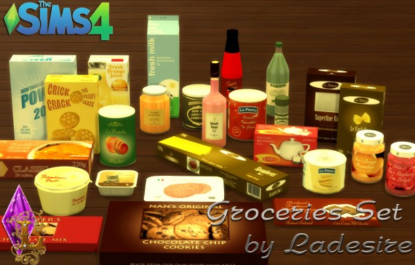 Ladesire Creative Corner: Groceries Set converted from TS3 to TS4