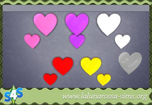 La Luna Rossa Sims: Valentines Wall Lights