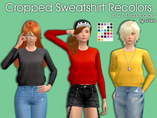 Tukete: Cropped Sweatshirt Recolors
