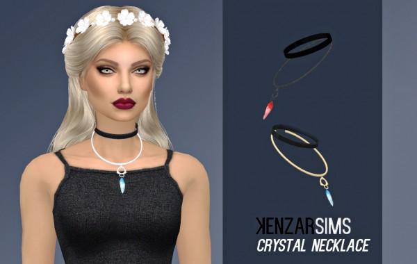 Kenzar Sims: Crystal Necklace