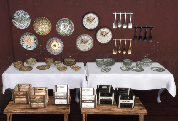 PQSims4: Clutter kitchen Ibiza