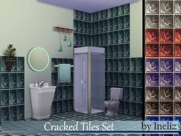 The Sims Resource: Cracked Tiles Set by Ineliz