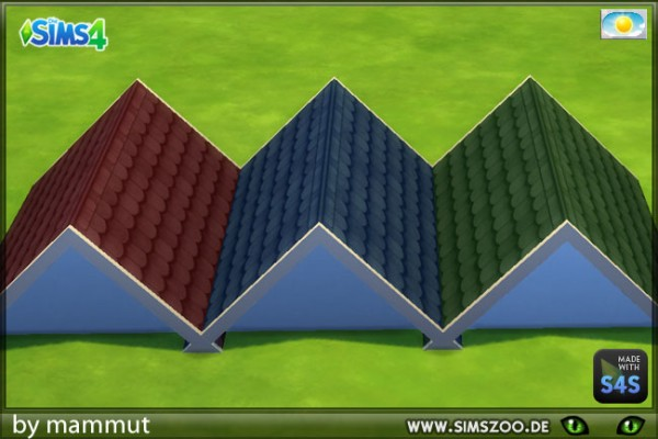 Blackys Sims 4 Zoo: Country house roof 1 by Mammut