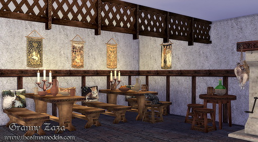 The Sims Models: Medieval tavern set  by Granny Zaza