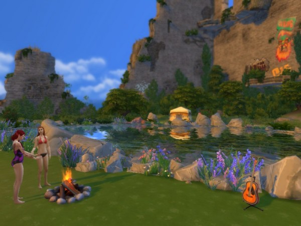 Mod The Sims: My MORE NATURAL Natural Pool for Windenburg's Bluff Island by SimLaReine