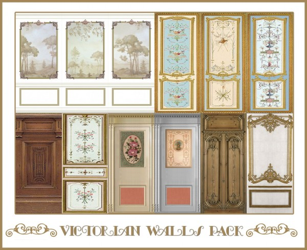 Sims 4 Designs: Victorian Walls Pack • Sims 4 Downloads