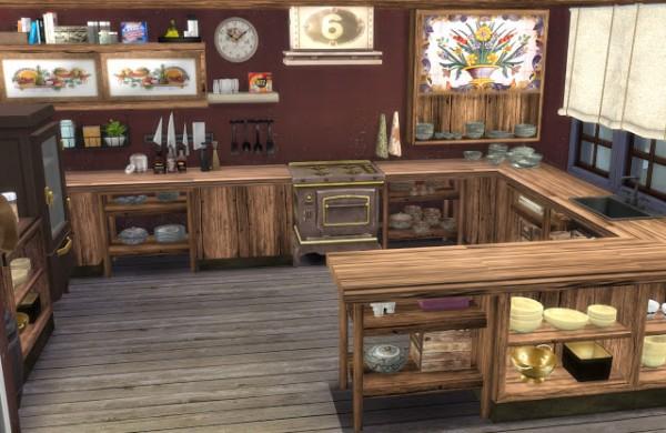 Pqsims4 Mediterranean Style Kitchen Ibiza Sims 4
