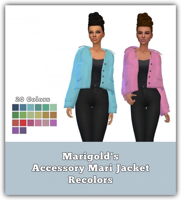 Simsworkshop: Mari Jacket Recolors