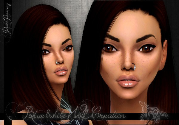 Simsworkshop 2 Nose Piercing With Pearl By Blue8white Sims 4