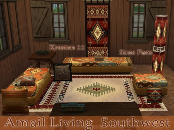 Sims Fans: Amali Living   Southwest Collections by Kresten 22