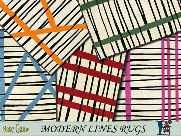 The Sims Resource: Modern lines rugs by evi