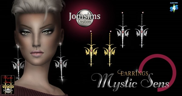 Jom Sims Creations: Mystic sens earrings