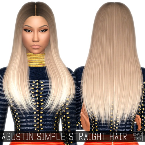 Simpliciaty: Agustin simple straight hairstyle conversion • Sims 4 Downloads