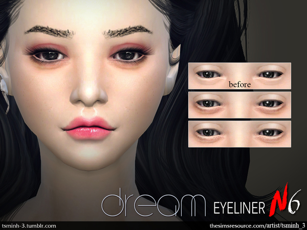 The Sims Resource: Dream Eyeliner by tsminh 3
