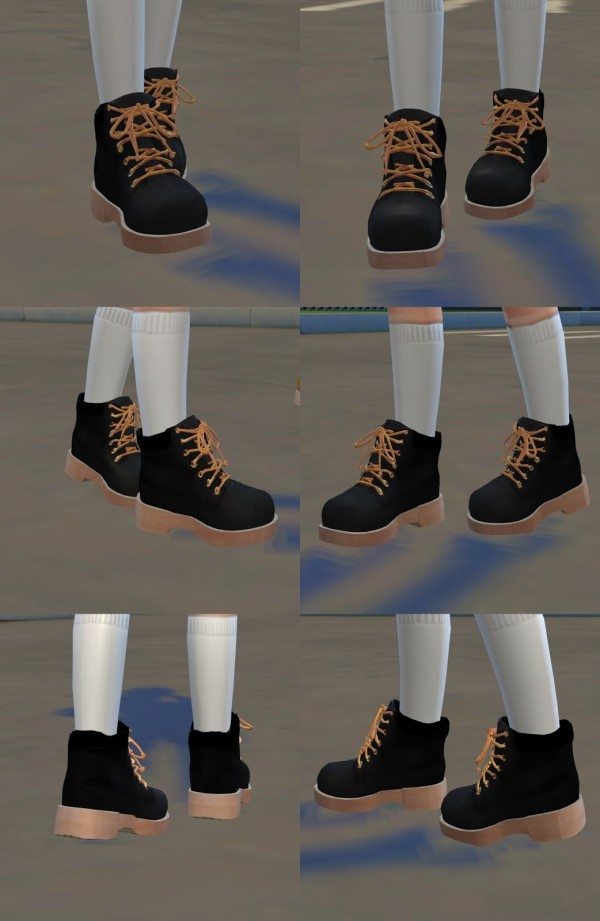 Sims4 Marigold Child Hiking Boots Sims 4 Downloads
